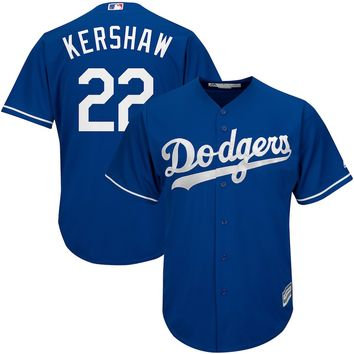 Clayton Kershaw Los Angeles Dodgers Majestic Official Cool Base Player Jersey - Royal