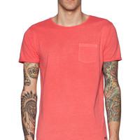 Scotch & Soda Summer Garment Pocket Tee in Red