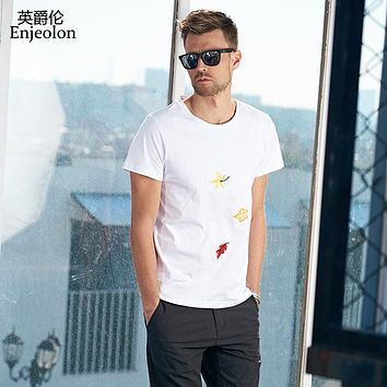 cotton t shirt men 4 color printing black white clothing o neck short sleeve clothes casual clothing