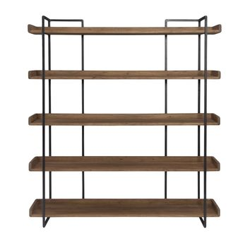 Vancouver Bookshelf Large Acacia Wood Iron