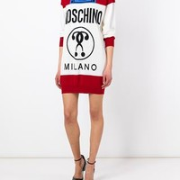 Moschino 'it's Lit' Intarsia Knit Jumper Dress - Excelsior Milano - Farfetch.com