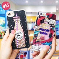 Glitter Liquid Quicksand Phone Cases for iPhone 6 6S Plus iPhone 7 8 Plus iPhone X Case