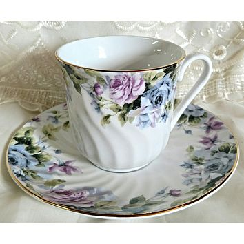 Set of 6 Millicent Bulk Porcelain Teacups and Saucers Cheap price; elegant appearance! $5.95 Flat Rate Shipping or Add 1 More Set for FREE Shipping!