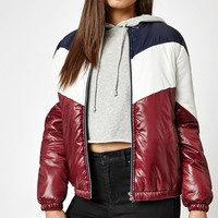 Kendall and Kylie Colorblock Puffer Jacket at PacSun.com