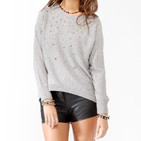 Studded Mélange Sweater