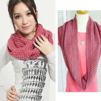 Unisex Autumn winter lic women scarf knitting Wool Collar Shawl Neck Warmer pink High Quality Fashion Scarves female Wrap 117