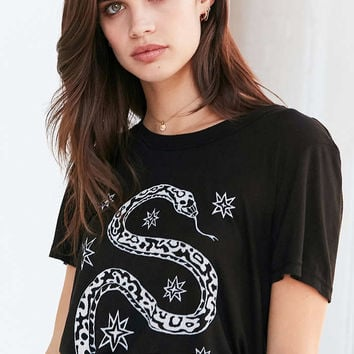 Truly Madly Deeply Snake And Stars Tee - Urban Outfitters