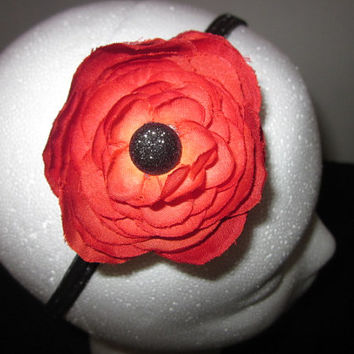 Burnt Orange Dainty Flower Stretcy Headband By Sweetpeas Bows & More