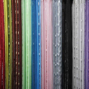 Fashion Chain Beads Fringe String Curtain Panel Window Room Divider