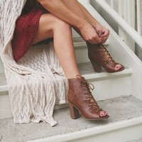 Corinna Lace-Up Heeled Booties