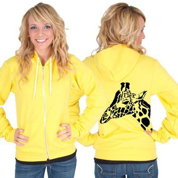 Giraffe American Apparel Hoodie by rainbowswirlz on Etsy