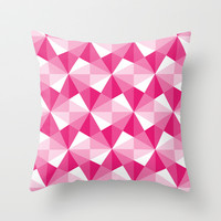 Pink Triangle Throw Pillow by C Designz