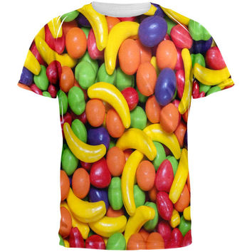 Halloween Fruit Candy All Over Adult T-Shirt