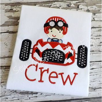 Custom Boys Race Car T-Shirt - Personalized Shirts - Racing Car Shirt - Toddler Youth Top