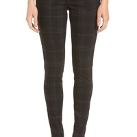 Wit & Wisdom Ab-solution Side Zip Plaid Skinny Pants (Regular & Petite) (Nordstrom Exclusive) | Nordstrom