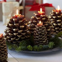 Pinecone Candle | Pottery Barn