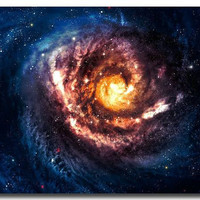 "Galaxy Space Stars Nebula Art Silk Poster Print 12x18 24x36"" Universe Landscape Pictures For Bedroom Living Room Decor 014"
