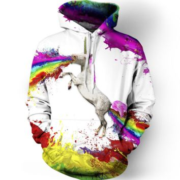 3D Unicorn Womens Hooded Sweatshirt Hoodies