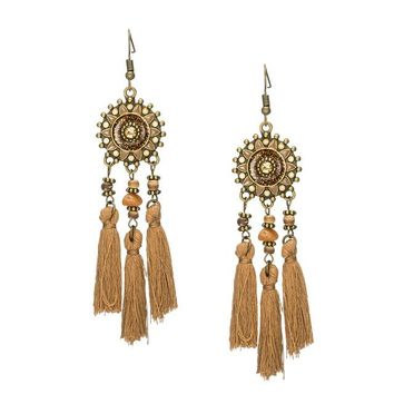 Indian Beaded Tassel Earrings | Heaven & Naveah Collection