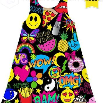 Fun Times Pop Art Kids Dress