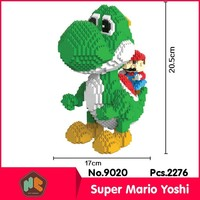 HC9020 2276Pcs Green Yoshi Dragon Series Without Original Box Building Blocks Diamond Bricks Toys Compatible With LOZ