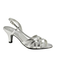 Formal Shoes - Touch Ups Donetta-364 Silver Low Heel Sandal