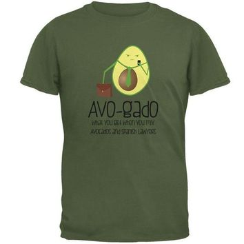 VONE05Y Avocado Abogado Lawyer Funny Spanish Pun Mens T Shirt