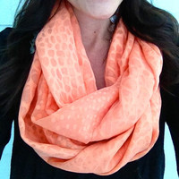 Coral Dotted Infinity Scarf