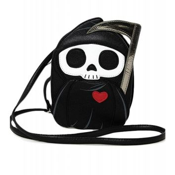 Comeco Grim Reaper With A Heart Shoulder Crossbody Bag