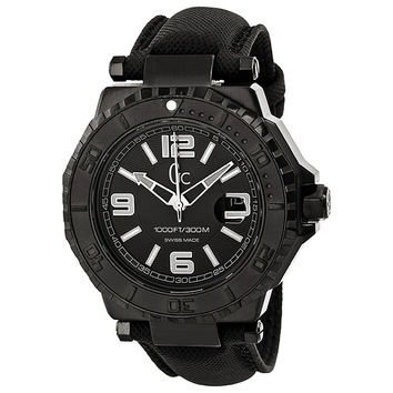 Guess GC-3 Collection Black Dial White Accent Mens Watch X79011G2S