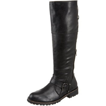 VERY VOLATILE CLYDE RIDING BOOT - BLACK