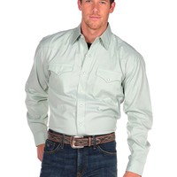 Stetson Pinpoint Oxford Shirt with Snaps and 2 Pockets in Green - Green