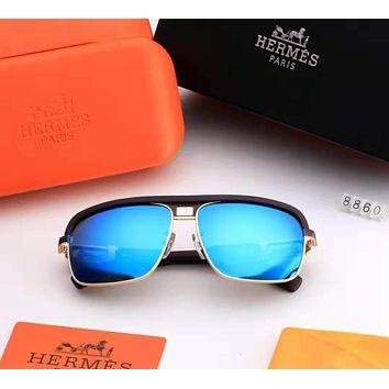 Hermes 2018 new trend outdoor wild men's color film polarized sunglasses