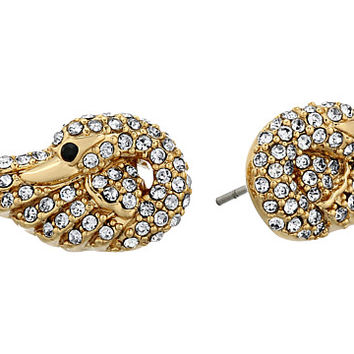 Kate Spade New York Take The Cake Pave Swan Studs Earrings