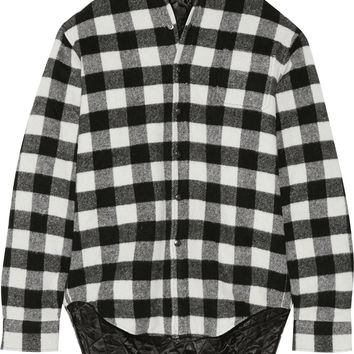 Vetements - Plaid wool-blend flannel shirt