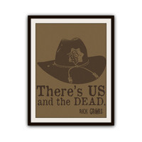 Rick Grimes The Walking Dead Typography Poster Print