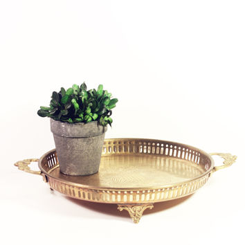 Footed Brass Tray