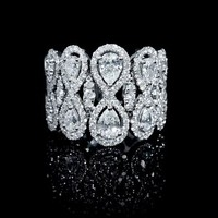 2.19ct Diamond 18k White Gold Flexible Ring