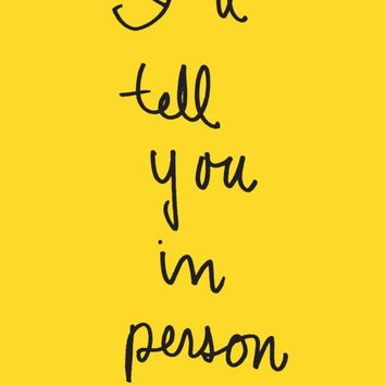 I'll Tell You in Person (Emily Books) Paperback – October 4, 2016