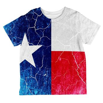 Texas Vintage Distressed State Flag All Over Toddler T Shirt
