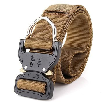 Combat Heavy Duty Knock Off Tactical Belt Men US Soldier Military Equipment Army Belts Sturdy Hook Nylon Waistband 3.8cm
