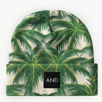 ANDCLOTHING — Tropical Palm AND Beanie <em> NEW </em>