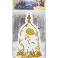 Disney Beauty And The Beast Rose & Bell Jar Glitter Decal