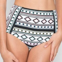 Coco Rave Most Wanted High Waisted Swim Bottom (R84366) XS/Back in Black Aztec:Amazon:Clothing