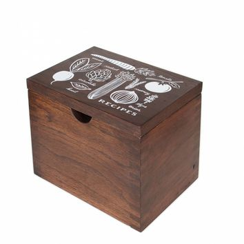Heirloom Garden Hardwood Recipe Box