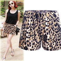 SIMPLE - Fashionable Summer Leopard Women Casual Shorts Pants b2909