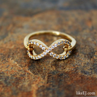 Infinity Crystal Ring