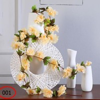 Fake Flower Rattan Cherry Blossom Wedding Room Decoration
