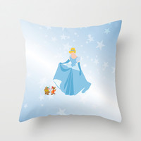 cinderella and friends Throw Pillow by studiomarshallarts