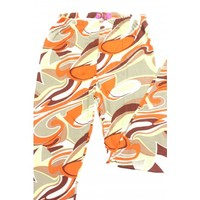 Swirl Print Brown & Orange Leggings (One Size Fits All) - NEW!!